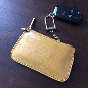 Gucci key case authentic leather
